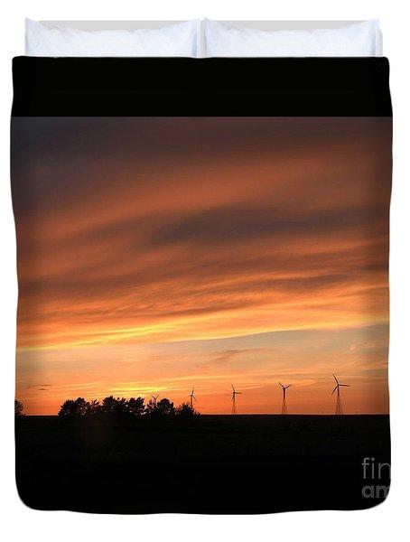 Sundown And Silhouettes Duvet Cover