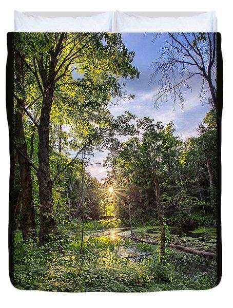 Sundown At Creekside Duvet Cover