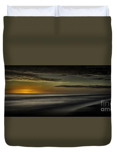 Sundown At Santa Rosa Beach Duvet Cover