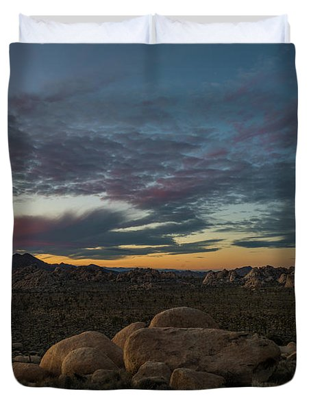 Sundown From Hilltop View Duvet Cover