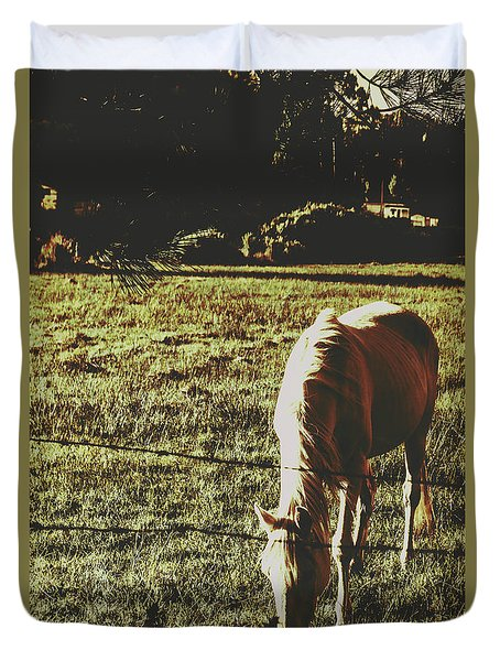 Sundown Horse Meadow Duvet Cover