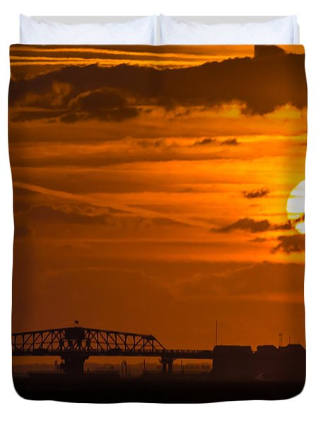 Sundown On The Charleston Coast  Duvet Cover