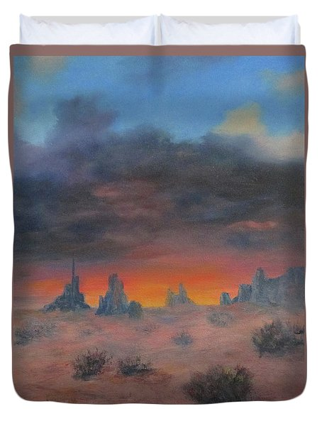 Sundown On The Desert Duvet Cover