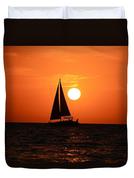 Sundown Sailors Duvet Cover