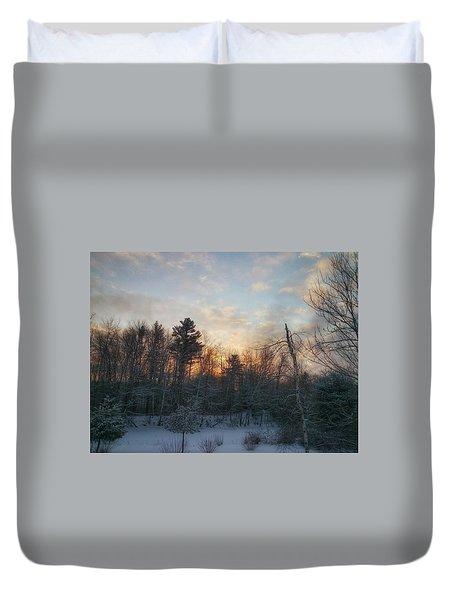 Sundown Winter New England Duvet Cover