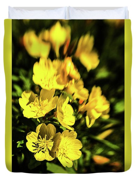 Duvet Cover featuring the photograph Sundrops by Onyonet  Photo Studios