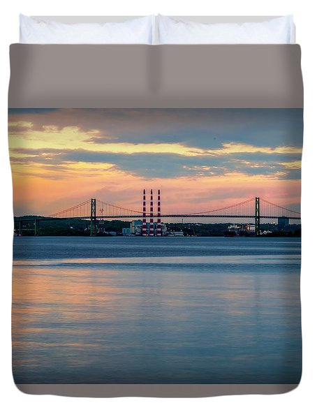 Sunset On The A Murray Mackay Duvet Cover