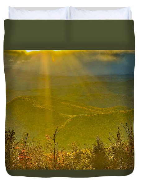 Sunflare From Mt Ascutney Duvet Cover