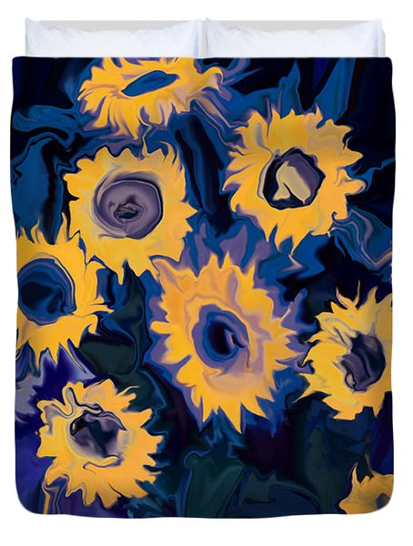 Sunflower 1 Duvet Cover by Rabi Khan