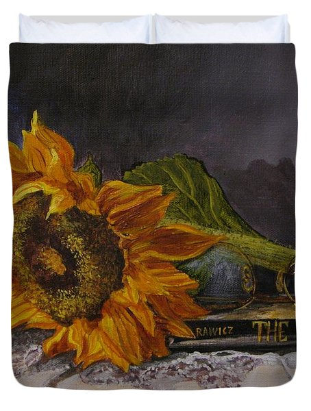 Sunflower And Book Duvet Cover