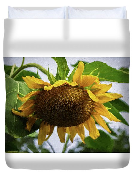 Sunflower Art II Duvet Cover