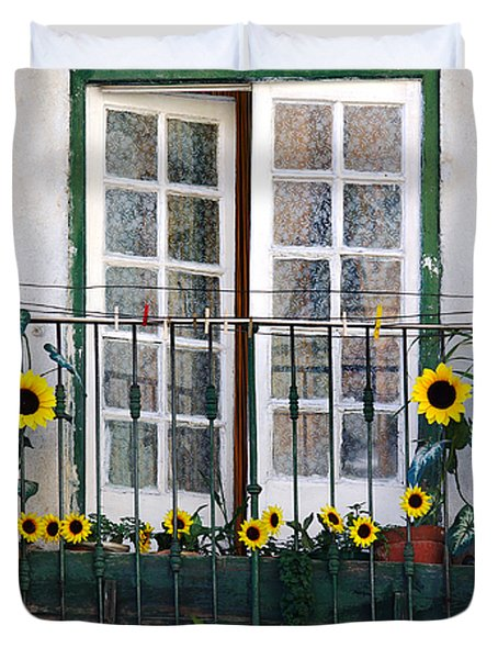 Sunflower Balcony Duvet Cover