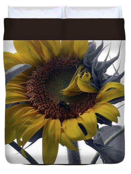 Sunflower Bee Duvet Cover