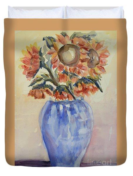 Sunflower Bouquet Duvet Cover by Heather Kertzer