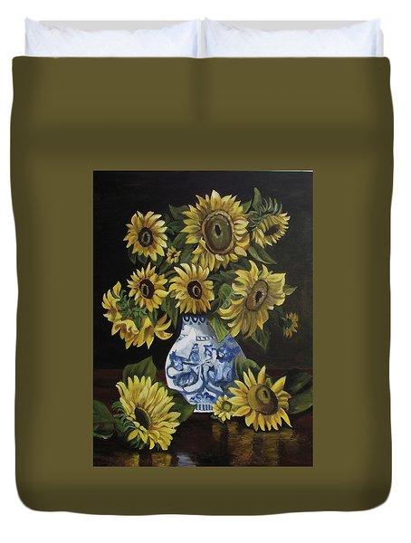 Sunflower Bouquet Duvet Cover by Kim Selig