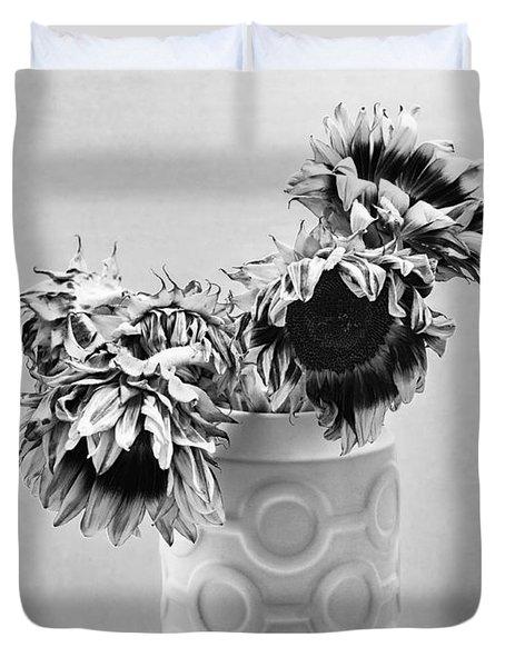 Sunflower Circle Of Light Duvet Cover