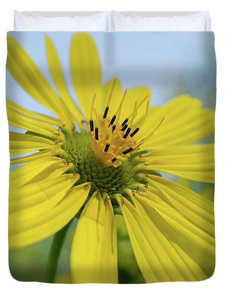 Sunflower Close-up Duvet Cover