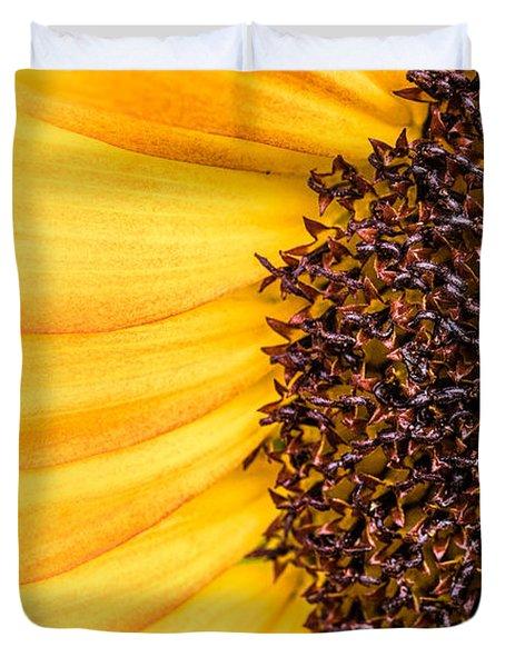 Sunflower Closeup Duvet Cover by Bob Orsillo