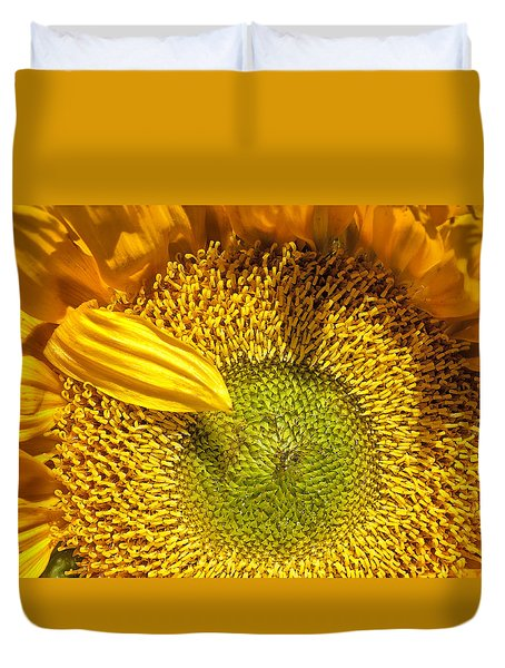 Sunflower Closeup Duvet Cover