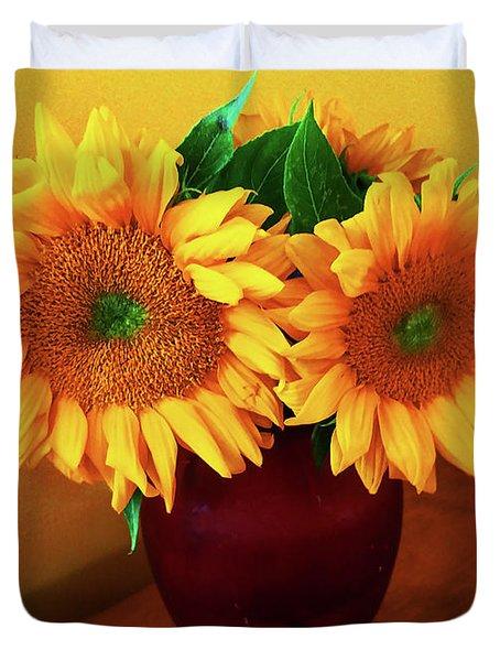 Sunflower Corner Duvet Cover