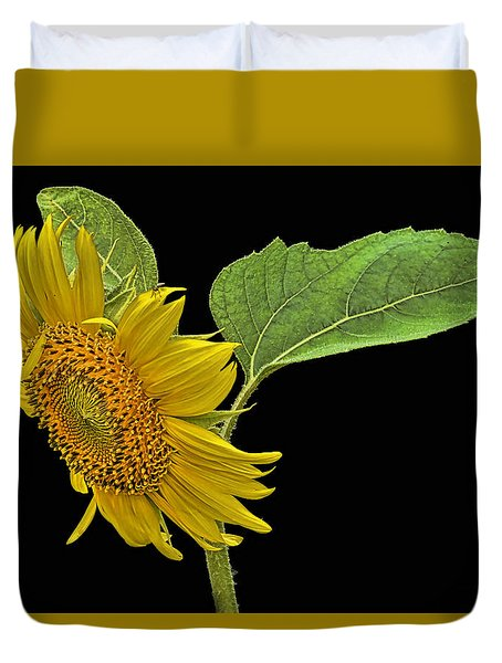 Duvet Cover featuring the photograph Sunflower by Don Durfee