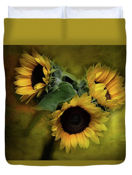 Sunflower Family Duvet Cover