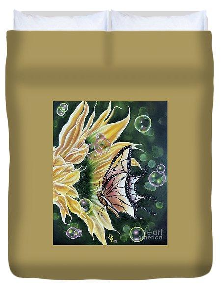 Sunflower Fantasy Duvet Cover by Dianna Lewis