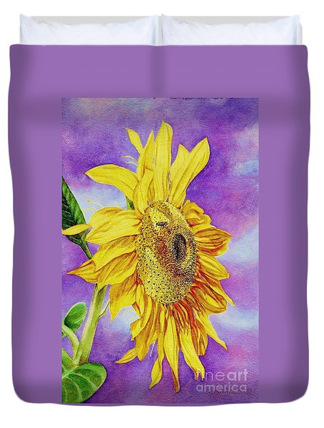 Sunflower Gold Duvet Cover
