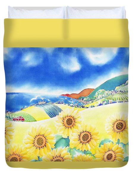 Sunflower Hills Duvet Cover