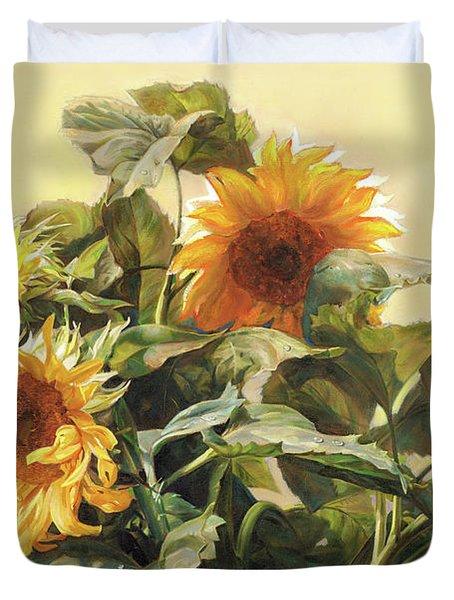 Sunflower In Love - Good Morning America Duvet Cover