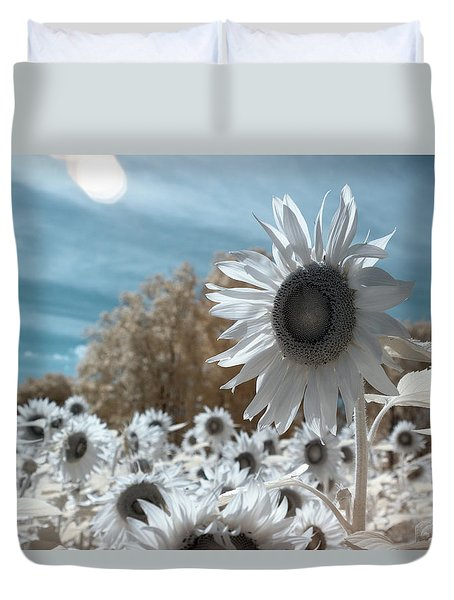 Sunflower Infrared  Duvet Cover