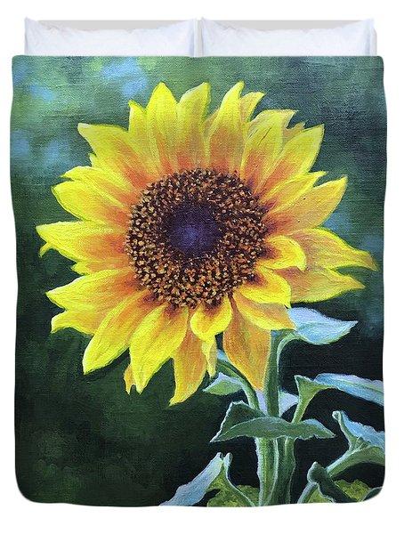 Sunflower Duvet Cover by Janet King