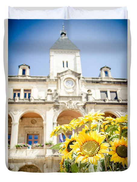 Duvet Cover featuring the photograph Sunflower by Jason Smith
