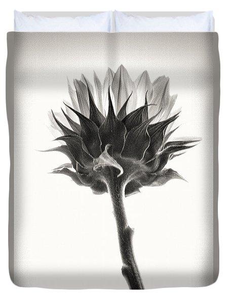 Duvet Cover featuring the photograph Sunflower by John Hansen