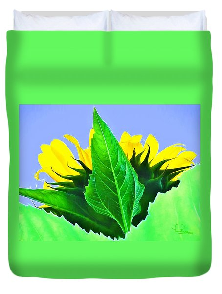 Sunflower Duvet Cover by Ludwig Keck