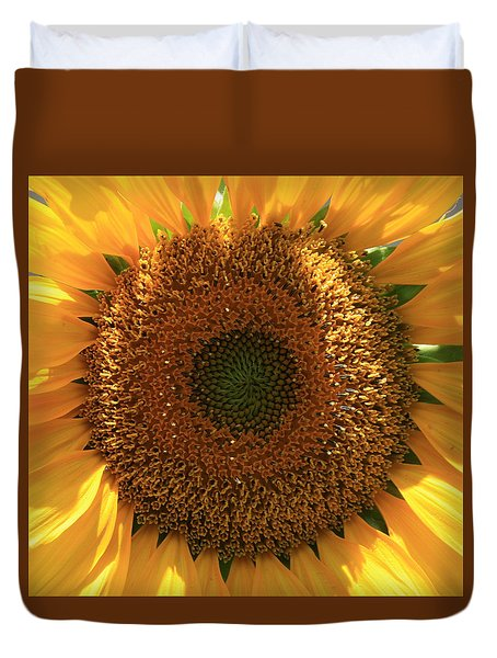 Duvet Cover featuring the photograph Sunflower  by Marna Edwards Flavell
