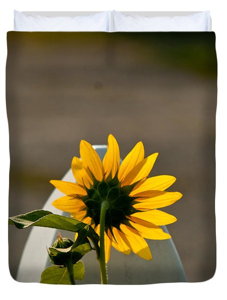 Sunflower Morning Duvet Cover by Douglas Barnett