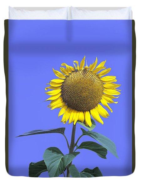 Sunflower On Blue Too Duvet Cover