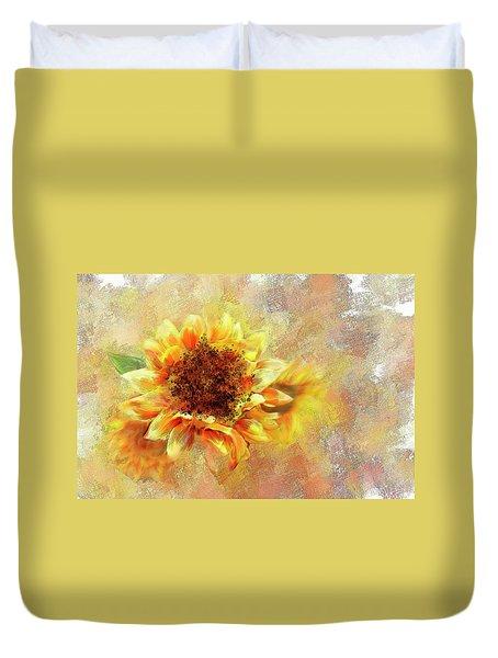 Sunflower On Fire Duvet Cover