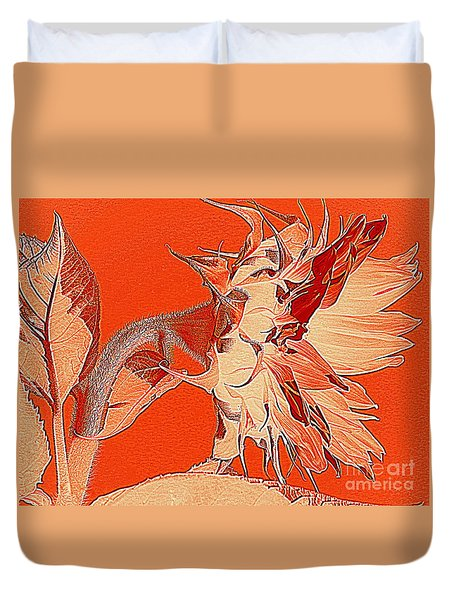Sunflower - Orange Deco Burst Duvet Cover