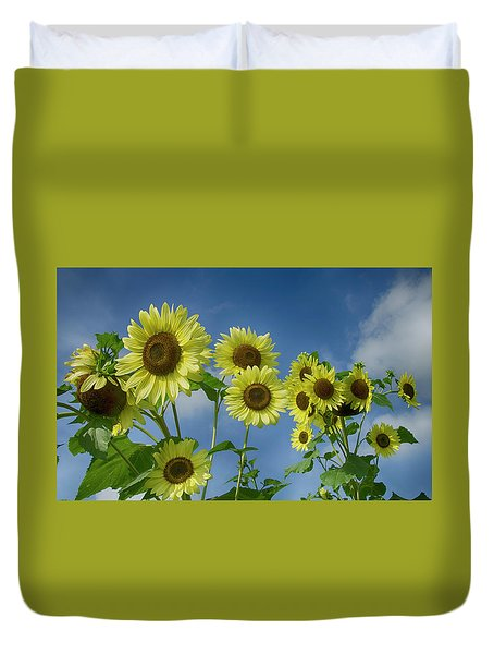 Sunflower Party Duvet Cover