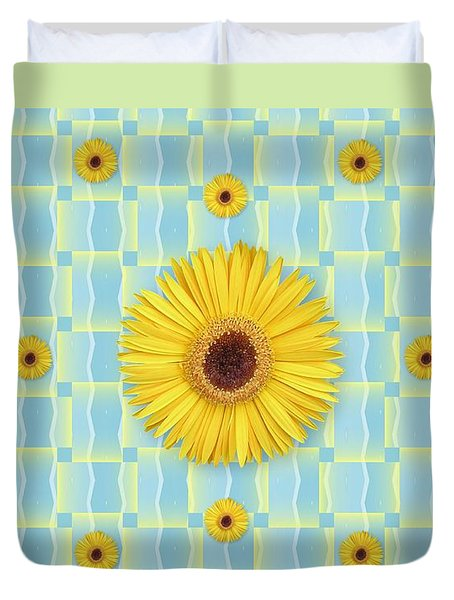 Sunflower Pattern Duvet Cover