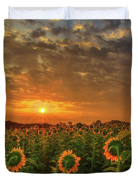 Sunflower Peak Duvet Cover