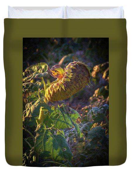 Sunflower Repose Duvet Cover