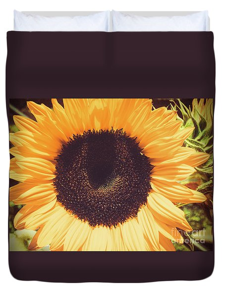 Sunflower Duvet Cover by Scott and Dixie Wiley