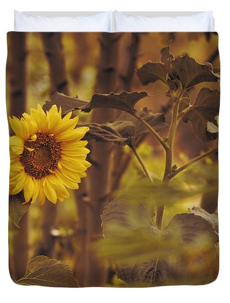 Sunflower Sentry Duvet Cover