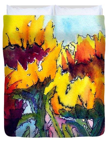 Sunflower Serenade Duvet Cover