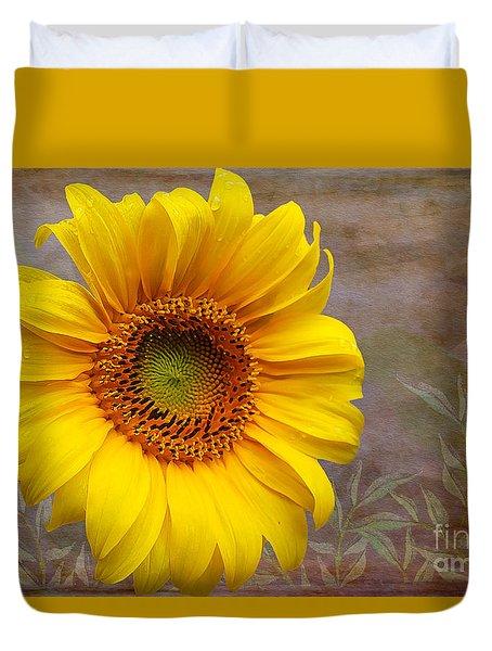 Sunflower Serenade Duvet Cover by Nina Silver