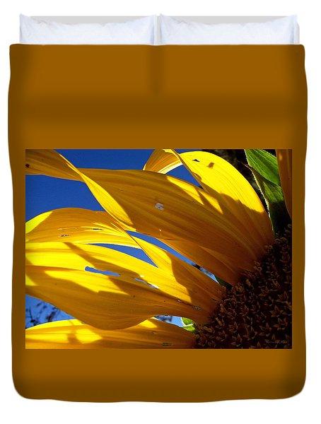 Sunflower Shadows Duvet Cover