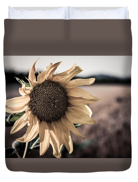 Sunflower Solitude Duvet Cover